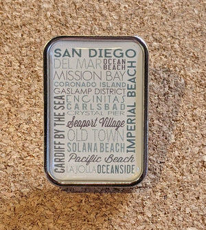 San Diego Green Typography Pin
