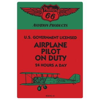 Pilot on Duty Embossed Sign