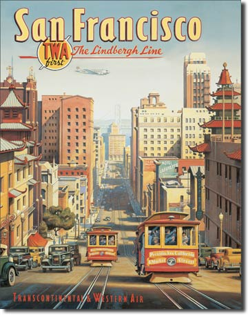 San Francisco Tin Sign