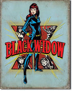 Black Widow Retro Tin Sign