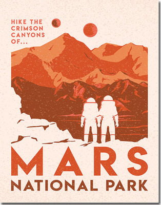 Mars National Park Tin Sign