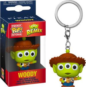 Alien Remix - Woody Pop Keychain