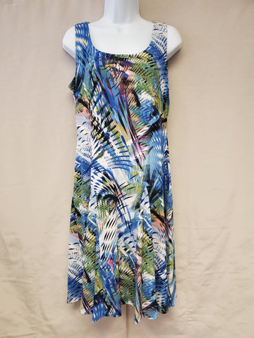 Dress – Abstract Leaf Print – PETITE