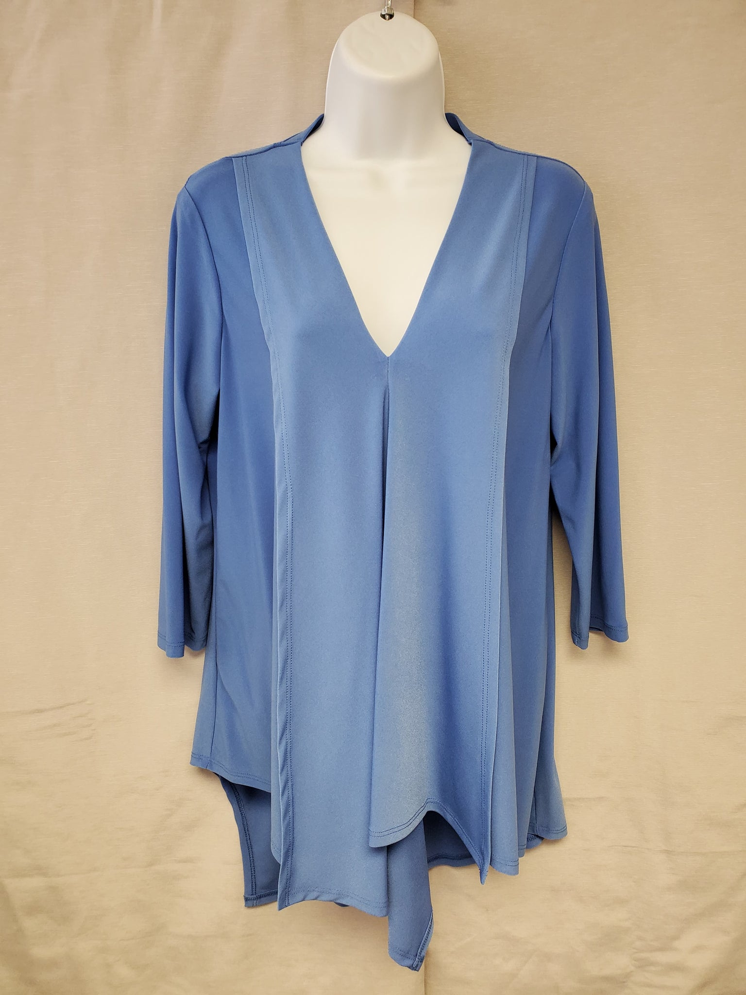 ¾ Sleeve Top – Cornflower Blue