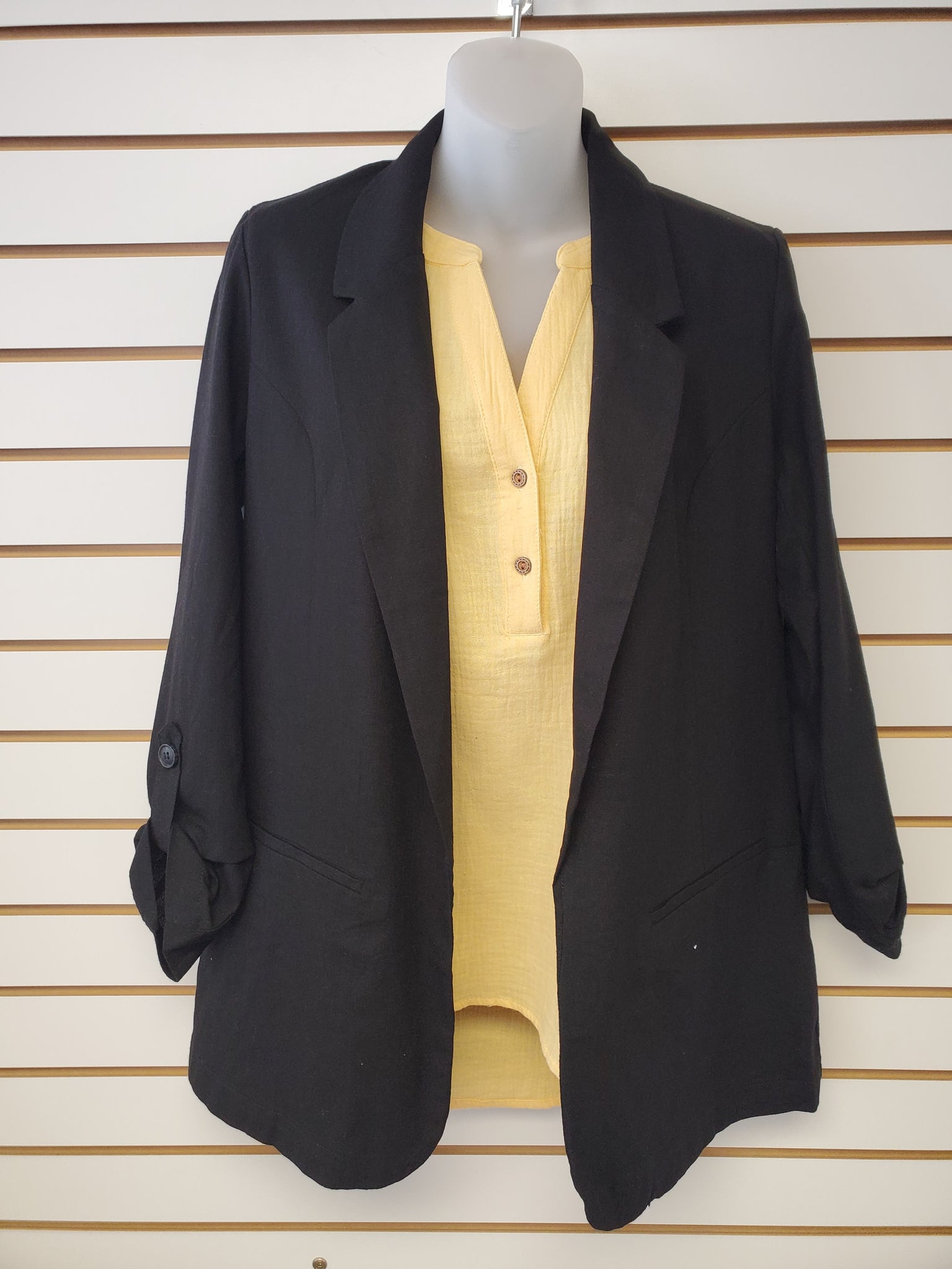 Open Blazer - Black