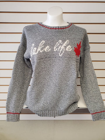 Lake Life Sweater in Grey