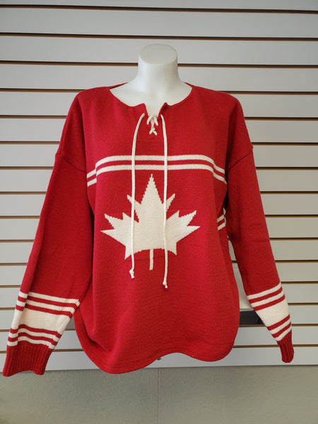 Hockey Jersey Sweater - Red