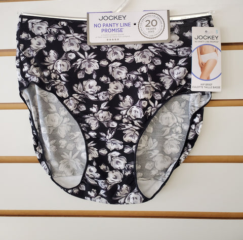 No Panty Line Promise Hip Brief by Jockey - BLACK FLORAL