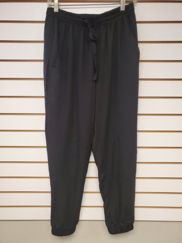 Elastic Waist Pants - Black