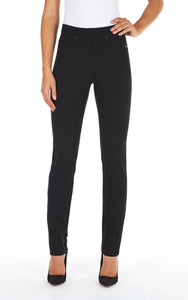 Pull On Slim Leg - BLACK
