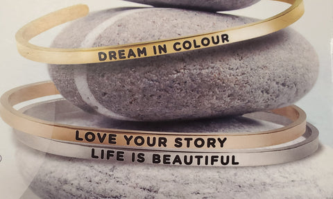 Inspirational Adjustable Bracelets - Silver