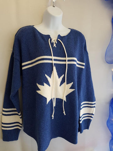 Hockey Jersey Sweater - Blue