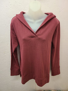 V-Neck Fleece Sweater