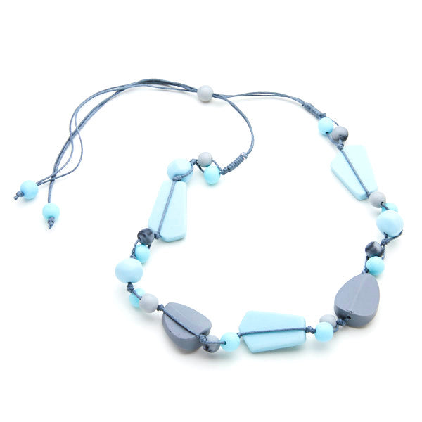 Short Resin Necklace - Seafoam Blue
