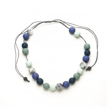 Multi Colour Ball Necklace - Seafoam