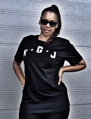 K.G.J T-SHIRT - BLACK & WHITE