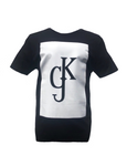 KGJ BLOCK T-SHIRT - BLACK & WHITE