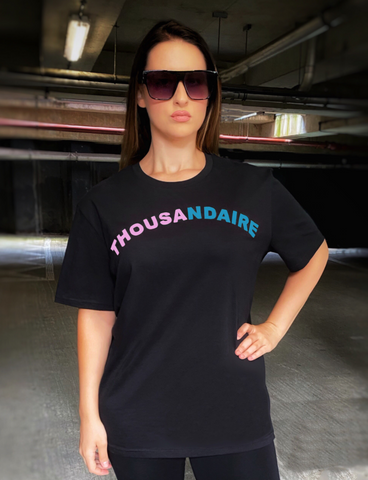 THOUSANDAIRE T-SHIRT - PINK & BLUE