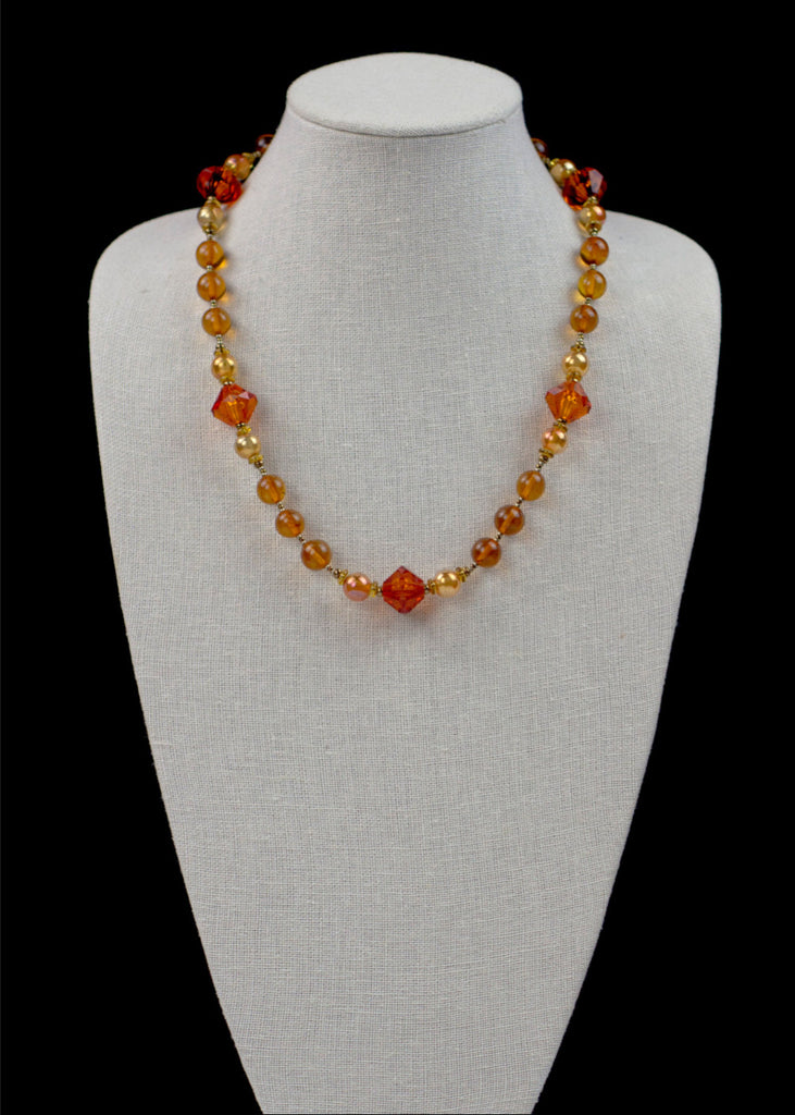 Bold Orange Necklace
