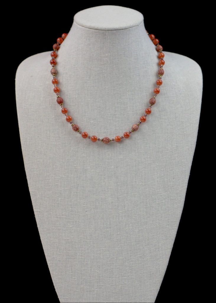 Bold Orange Glass Necklace