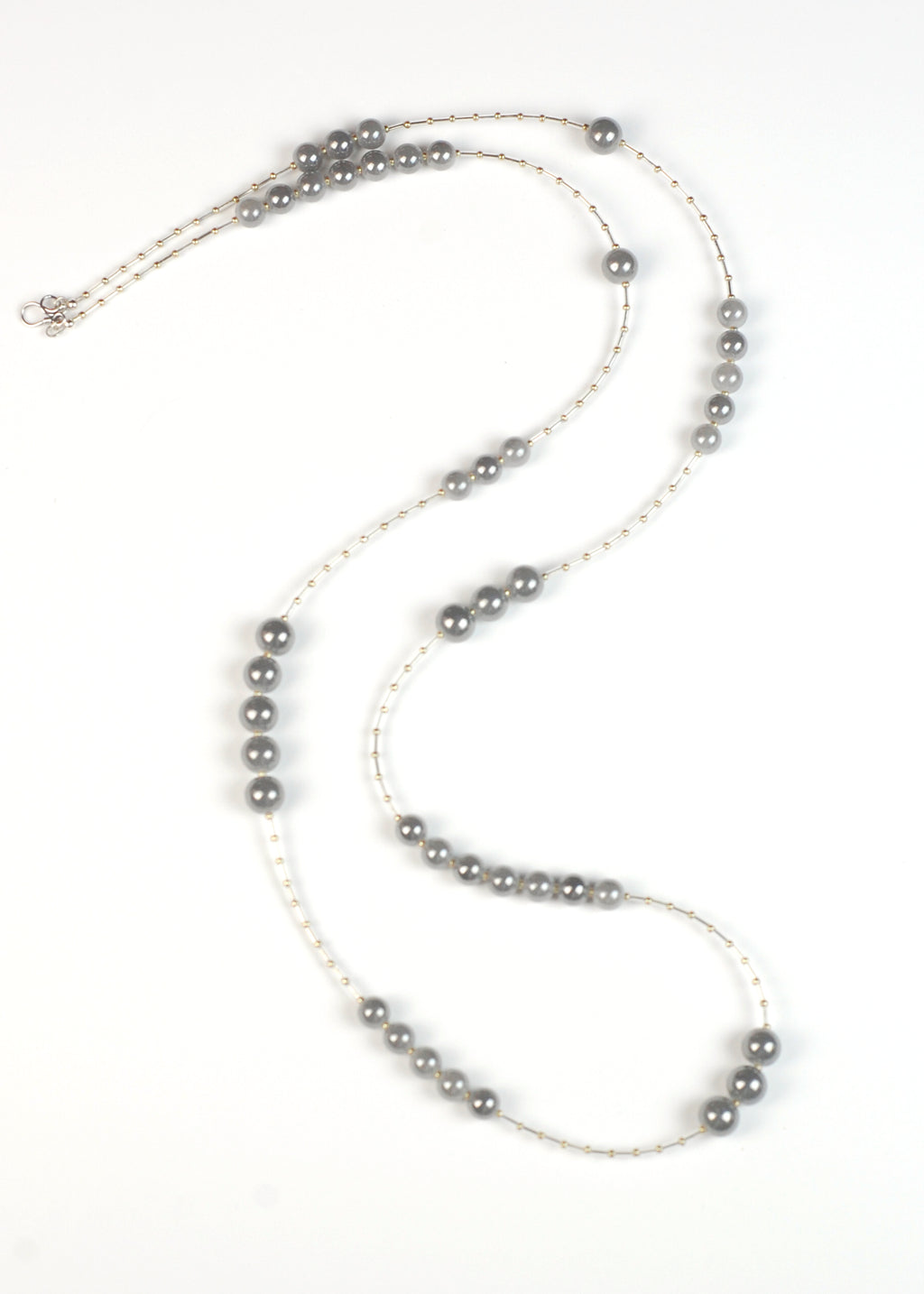 Gray Glass Flapper Necklace