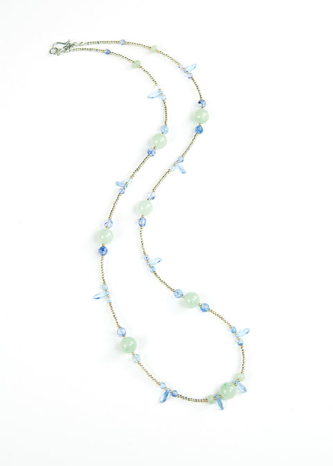 Green and Blue Spike Envy Necklace