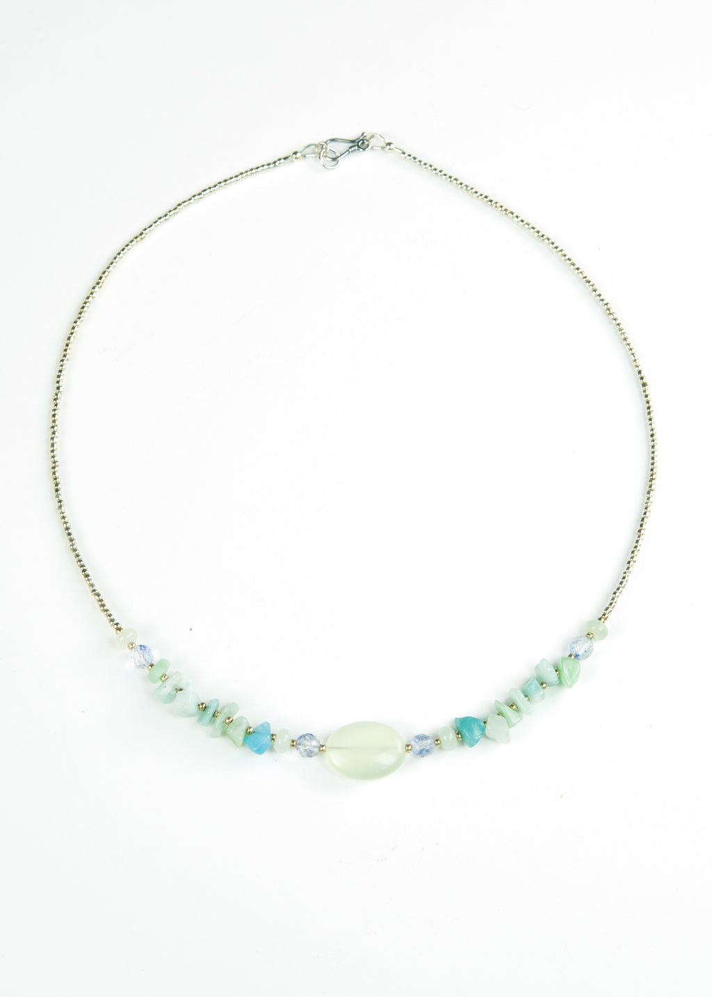 Green Stone Chip Envy Necklace