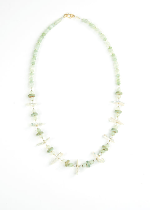 Green Mother of Pearl Envy Necklace