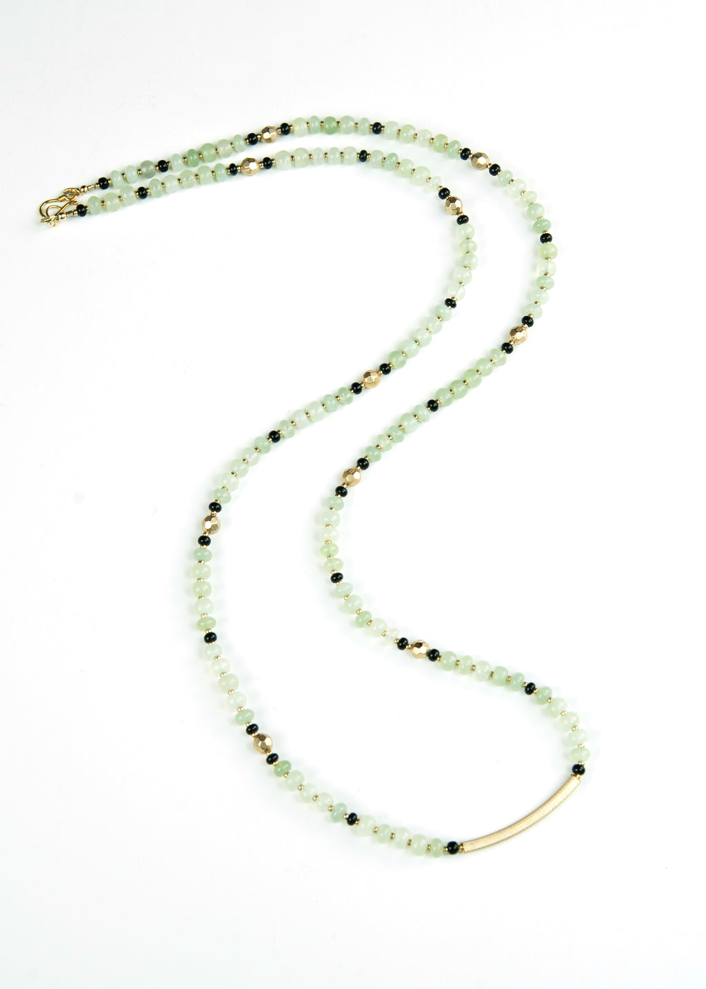 Green with Faceted Gold Envy Necklace