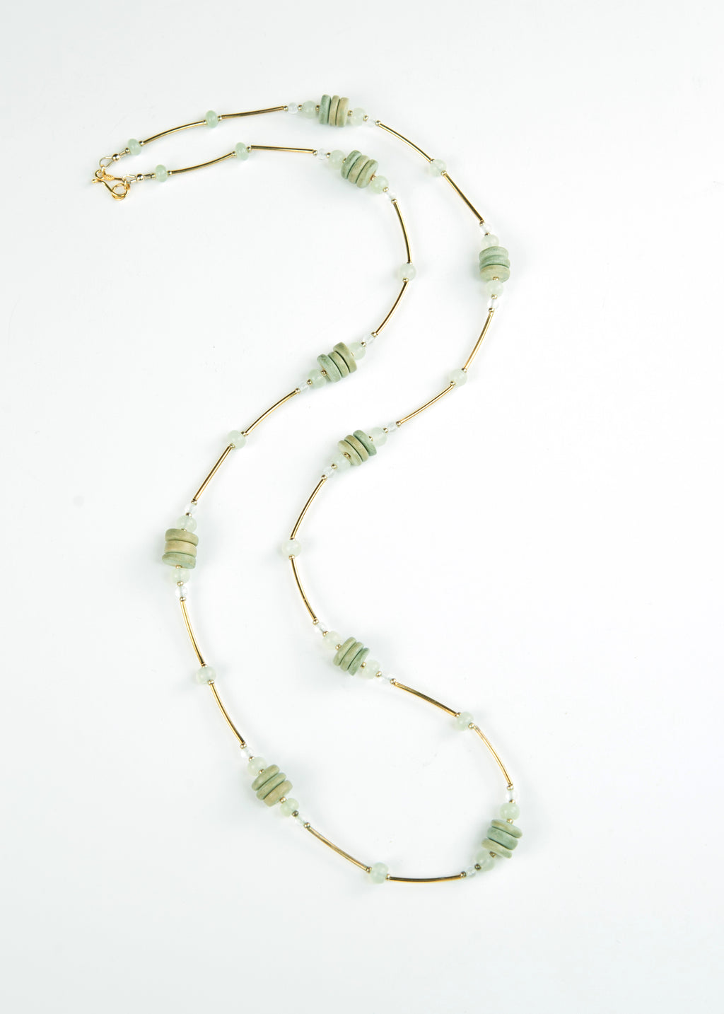 Green Wood and Gold Envy Necklace