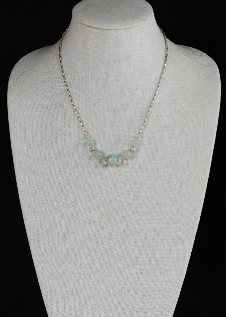 Pale Green Stone Envy Necklace