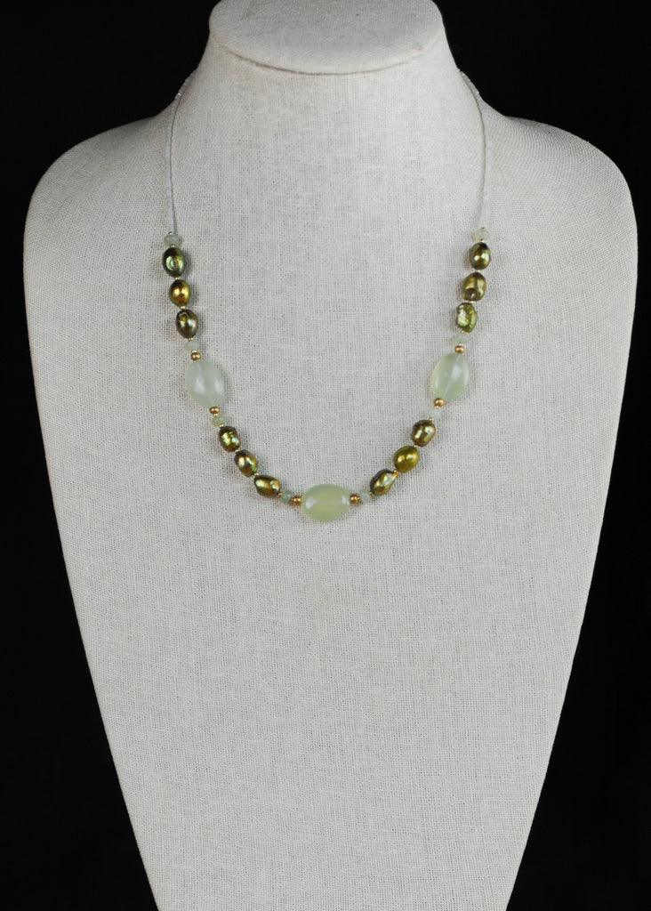 Green and Bronze Envy Necklace
