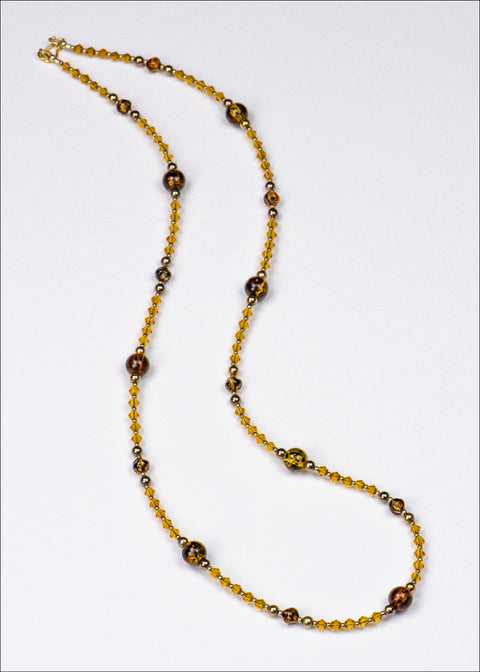 Deep Yellow Glass Necklace