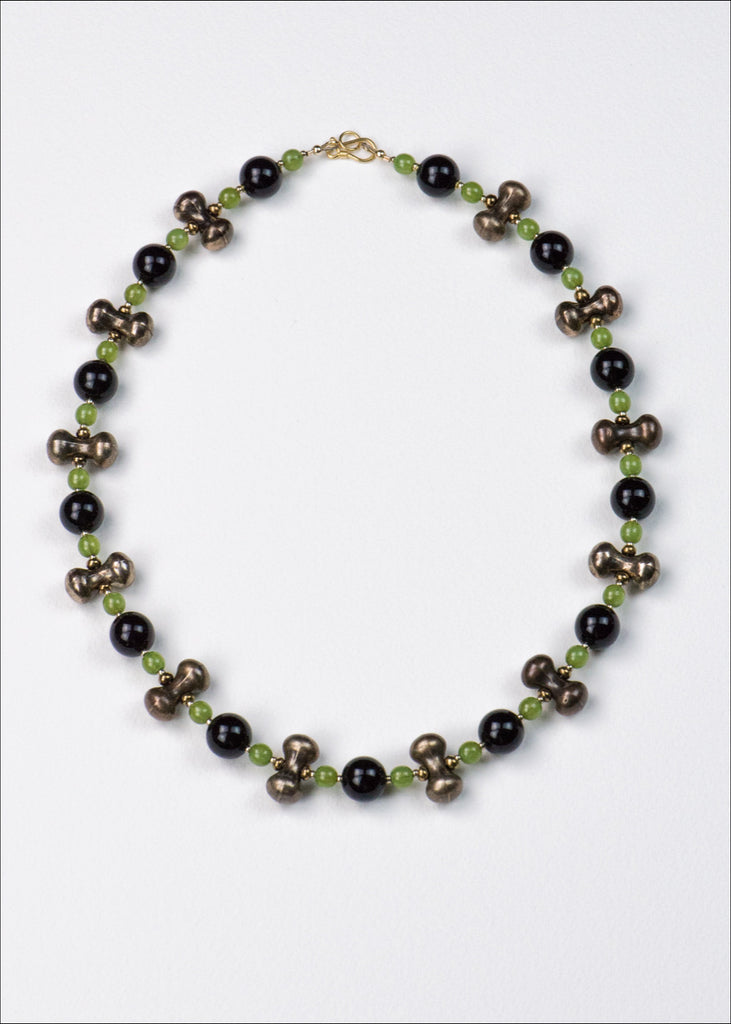 Bold Black and Green Necklace