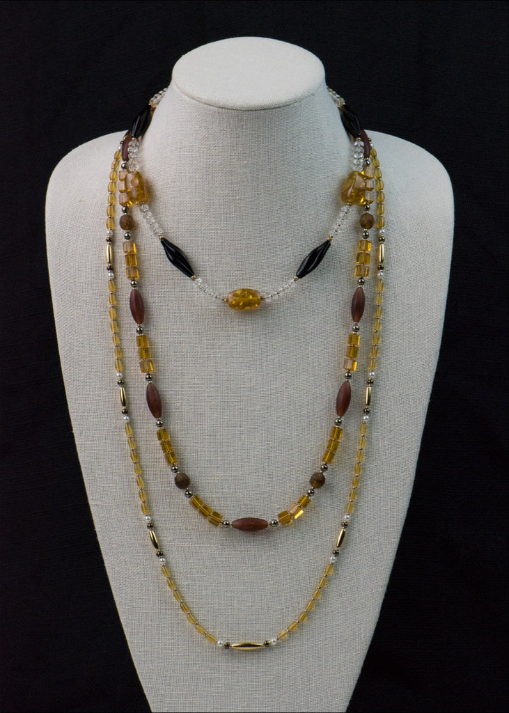 Bright Yellow and Gold Necklace