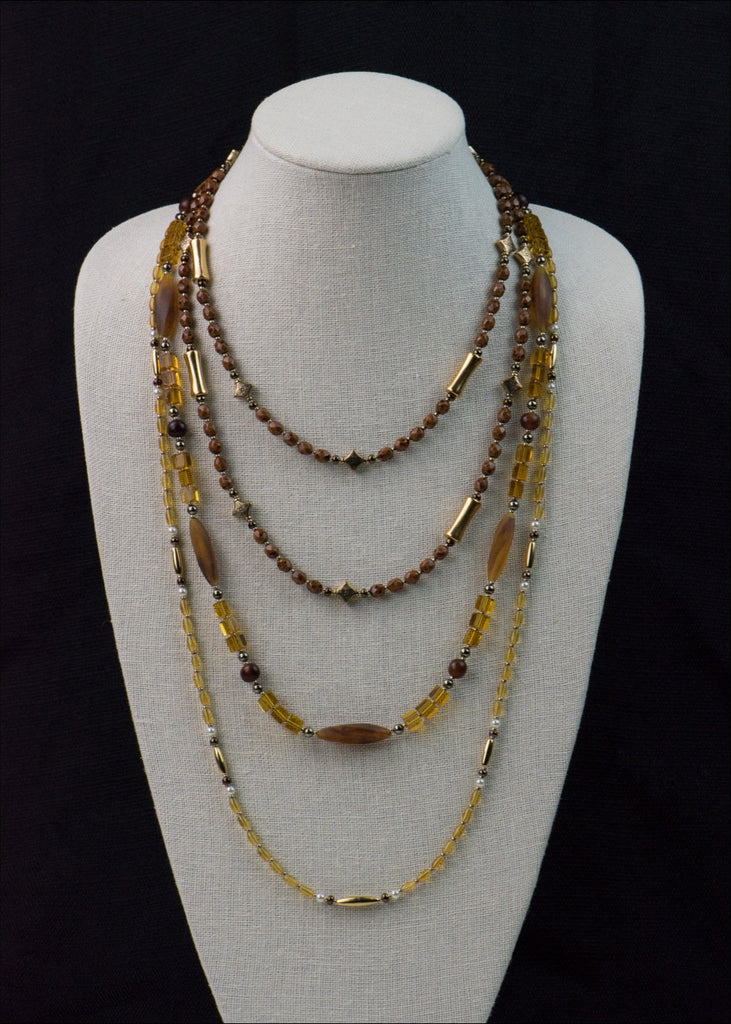 Caramel and Gold Necklace