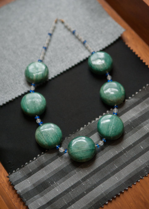 Vintage Deep Green and Blue Necklace
