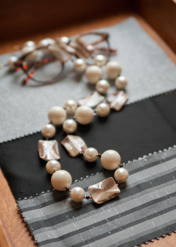 Vintage Stone Patterned Necklace