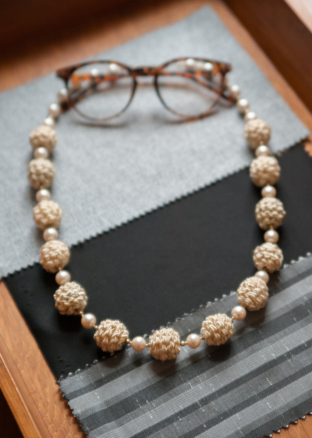 Vintage Braided Bead Necklace