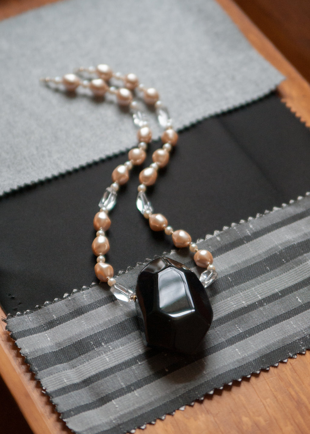 Vintage Cut Glass and Pearl Necklace