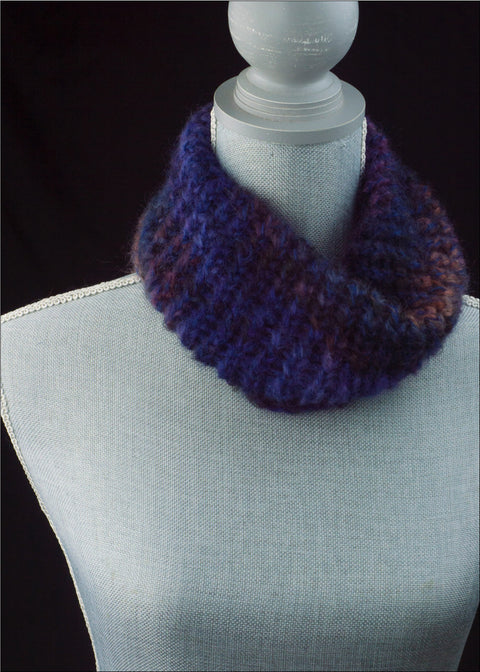 Variegated Lavender Mohair Cowl