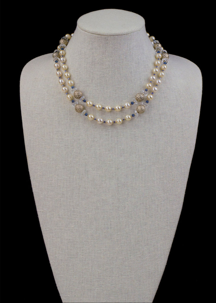 Gold Metal and Pearl Necklace