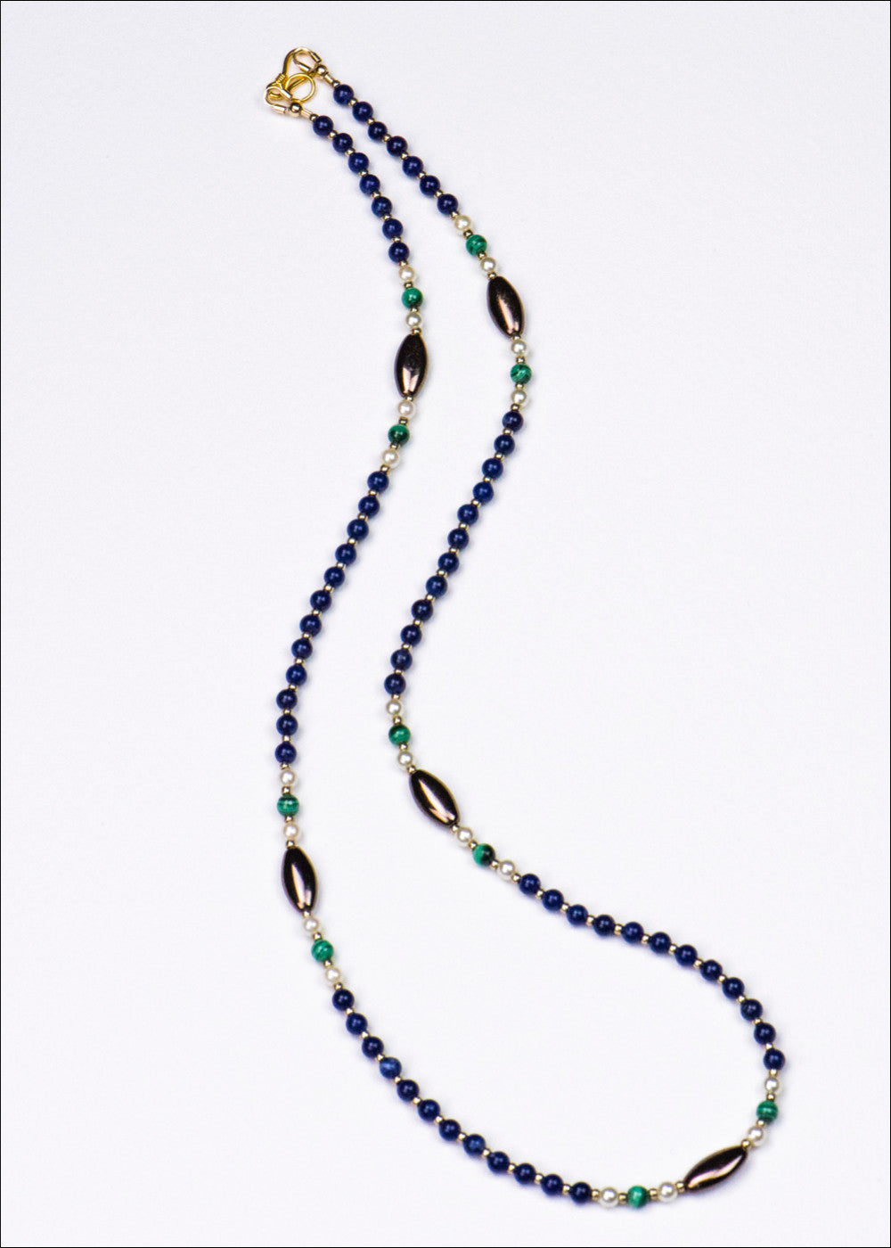 Blue and Green Stone Necklace