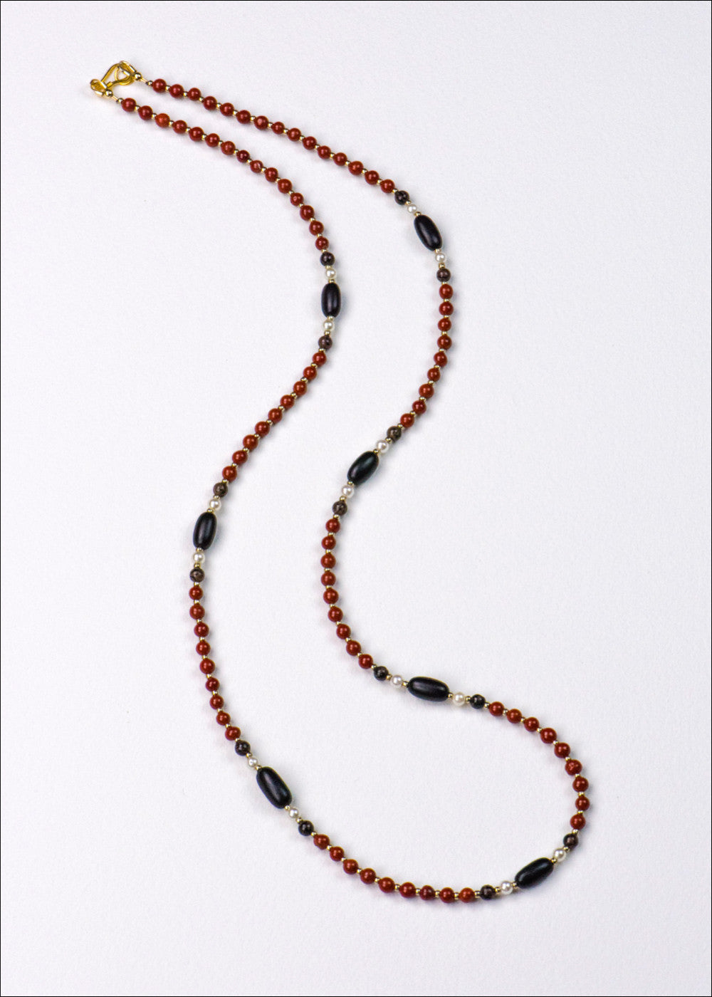 Red and Black Stone Necklace