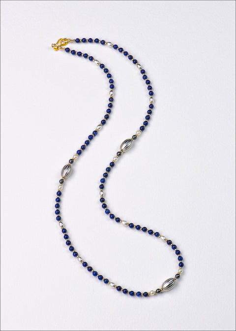 Blue and Silver Stone Necklace
