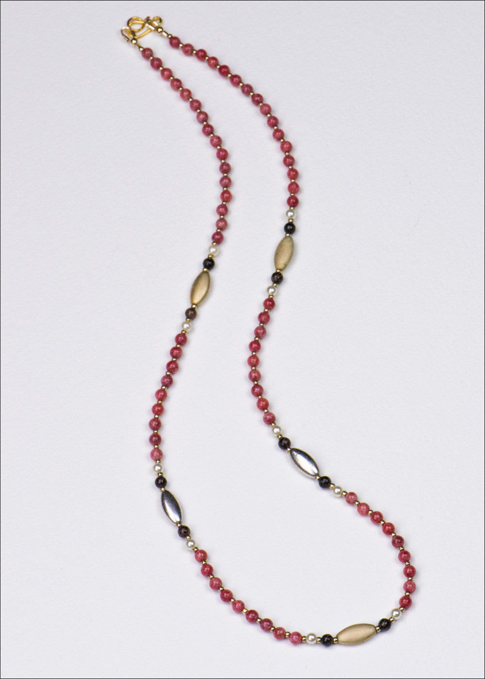 Pink Rhodonite Necklace