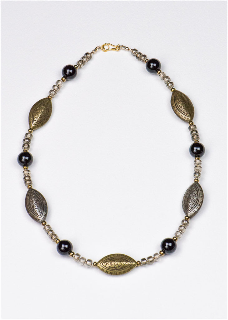 Bold Bronze and Silver Necklace