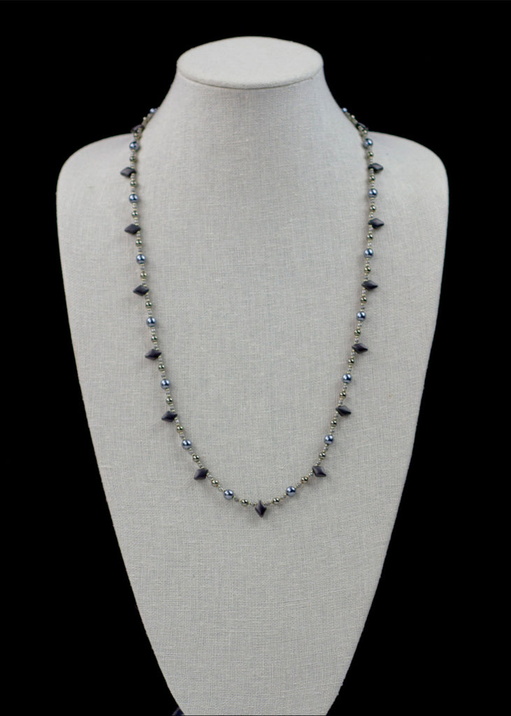 Blue and Grey Point Necklace