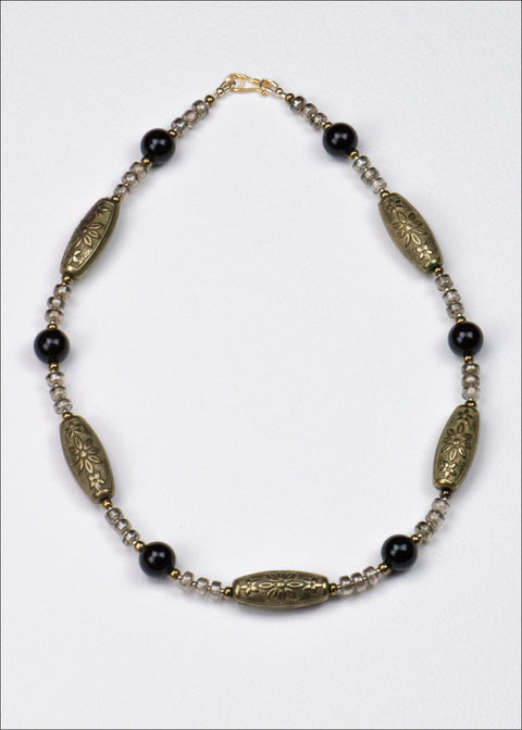 Bold Bronze And Black Necklace