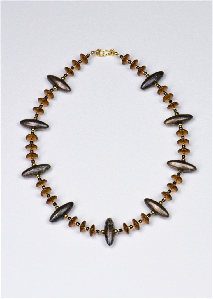 Bronze Spike Glass Necklace